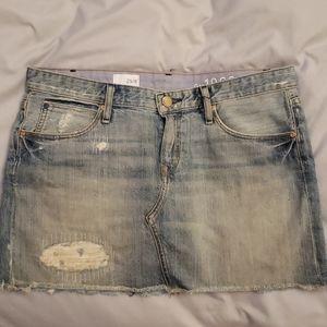 Distressed gap Jean skirt